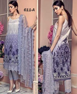 Fancy Lawn Suit With Embroidered Net Dupatta DM AAY 611 A.jpg