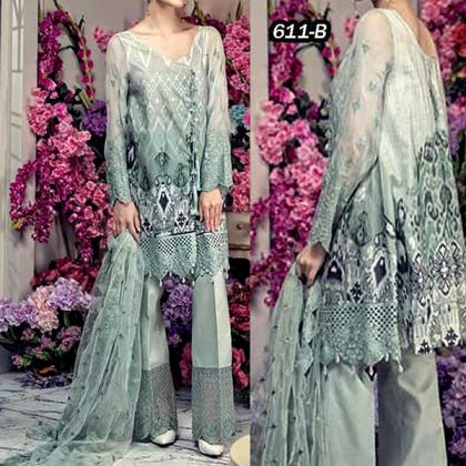 Fancy Lawn Suit With Embroidered Net Dupatta DM AAY 611 B.jpg
