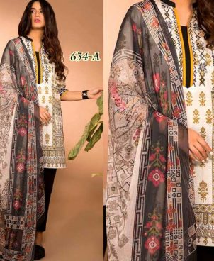 Front Back Printed Lawn With Chiffon Dupatta DM SL 634 A.jpg