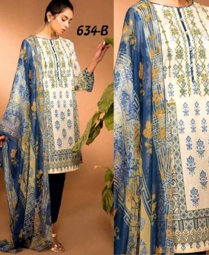 Front Back Printed Lawn With Chiffon Dupatta DM SL 634 B.jpg