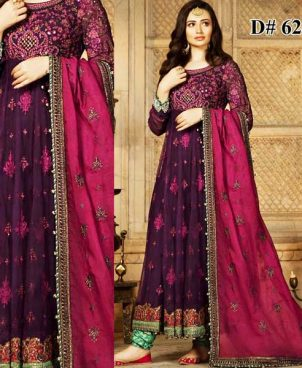 Full Embroidered Chiffon Dress With Jamawar Trouser DM MB 626 B 5.jpg