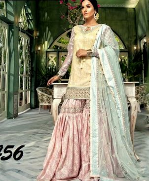 Full Printed Lawn Embroidered With Net Dupatta DM MB 456.jpg