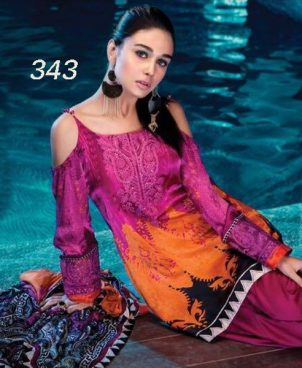 Lawn Suit And Trouser With Chiffon Dupatta DM MB 343.jpg