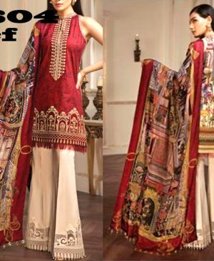 Lawn Suit Chiffon Dupatta Lace Embroidery Work DM AN 604 B.jpg