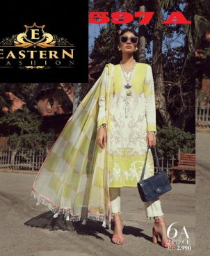 Lawn Suit Embroidered With Lawn Dupatta DM SS 597.jpg