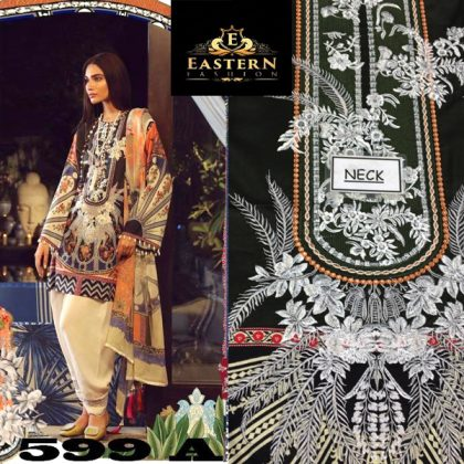 Lawn Suit Embroidered With Lawn Dupatta DM SS 599 A.jpg