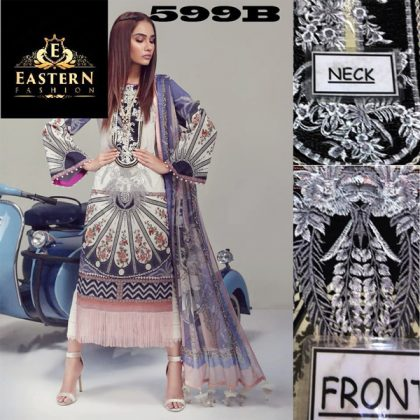 Lawn Suit Embroidered With Lawn Dupatta DM SS 599 B.jpg