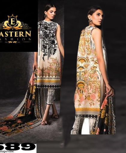 Lawn Suit Front Printed With Neck Embroidered DM SL 589 1.jpg