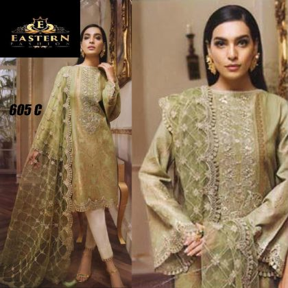 Lawn Suit With Chiffon Dupatta Embroidery Work DM AN 605.jpg