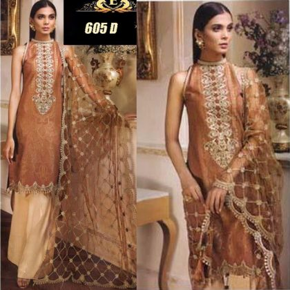 Lawn Suit With Chiffon Dupatta Embroidery Work DM AN 605 D.jpg