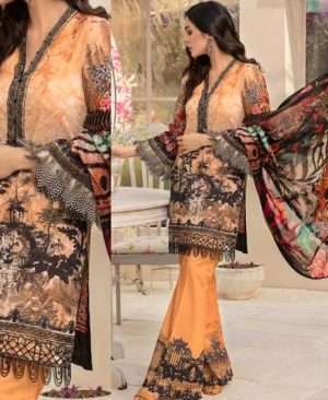 Lawn Suit With Chiffon Dupatta Lace Embroidery Work DM GUL 646.jpg