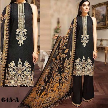 Lawn Suit With Chiffon Dupatta Lawn Trouser DM AN 645 A.jpg