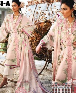 Lawn Suit With Chiffon Dupatta Lawn Trouser DM ZL 651 A.jpg