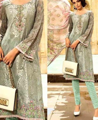 Lawn Suit With Chiffon Dupatta Printed Cambric Trouser DM MB 643 A.jpg