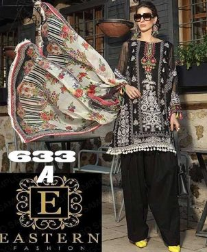 Lawn Suit With Chiffon Printed Dupatta Sleeves DM MB 633 A.jpg