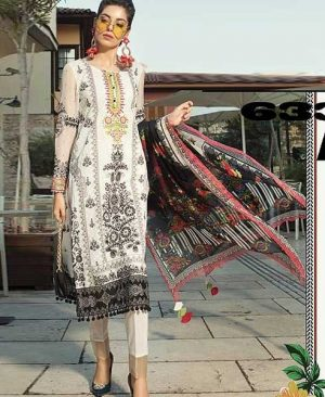 Lawn Suit With Chiffon Printed Dupatta Sleeves DM MB 633 B.jpg
