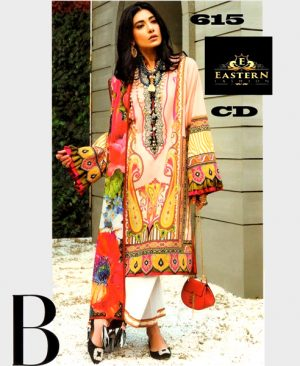 Lawn With Printed Chiffon Dupatta Front Neck Embroidery On Organza DM ZL 615.jpg