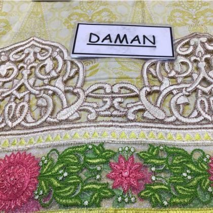 Luxury Embroidered Lawn Suit With Pure Organza Dupatta Lawn Trouser DM MB 656 A 1.jpg