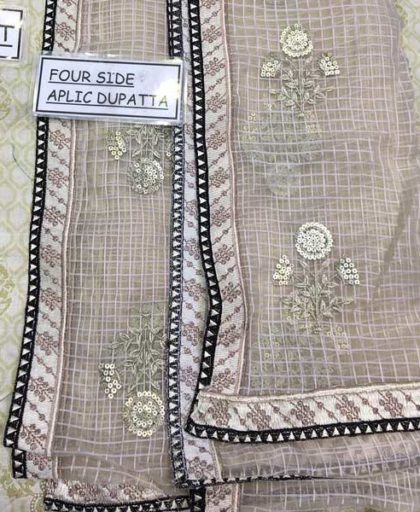 Luxury Embroidered Lawn Suit With Pure Organza Dupatta Lawn Trouser DM MB 656 B 2.jpg