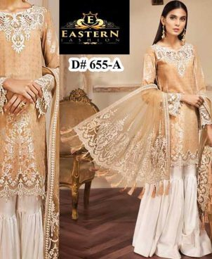Luxury Lawn Net Dupatta Cutwork Embroidery On Daman Sleeves DM AN 655 A.jpg