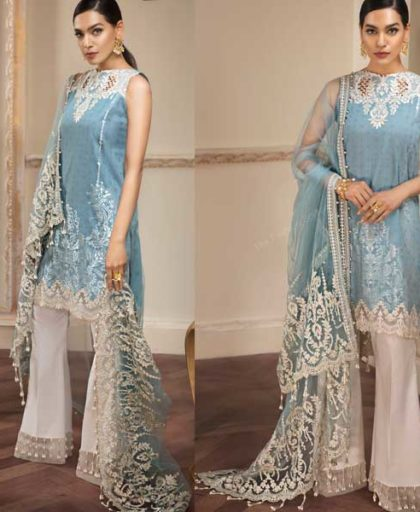 Luxury Lawn Net Dupatta Cutwork Embroidery On Daman Sleeves DM AN 655 B 1.jpg