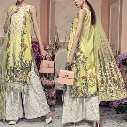 Luxury Lawn Printed Embroidery With Net Dupatta DM AAY 614 A.jpg