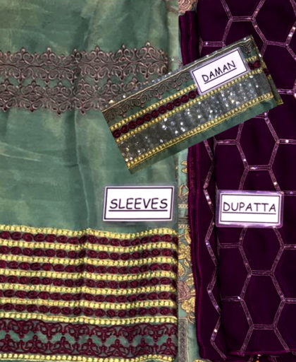 Mysore Suit Embroidered With Chiffon Dupatta Malai Trouser DM BAR 450 2.jpg