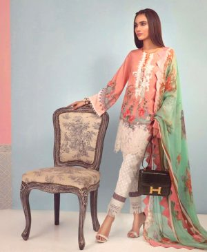 Printed Embroidery Lawn Suit With Lawn Dupatta DM SS 600 B.jpg