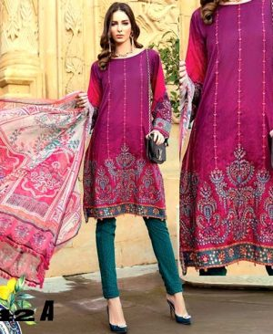 Printed Lawn Suit With Chiffon Dupatta Lawn Trouser DM MB 642 A.jpg