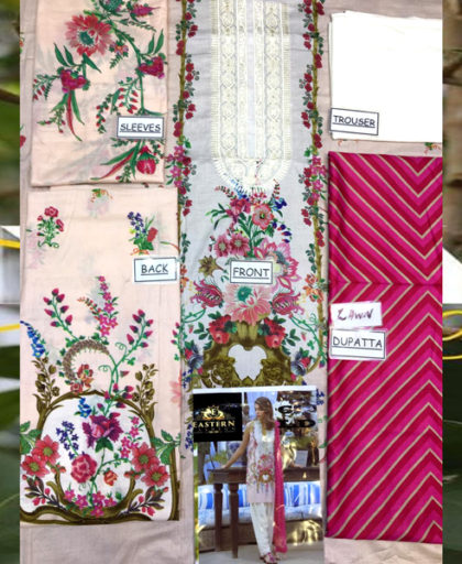 Printed Lawn Suit With Lawn Dupatta Trouser DM SS 610 A 1.jpg