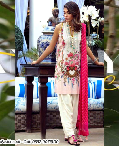 Printed Lawn Suit With Lawn Dupatta Trouser DM SS 610 A.jpg