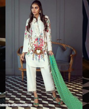 Printed Lawn Suit With Lawn Dupatta Trouser DM SS 610 B.jpg