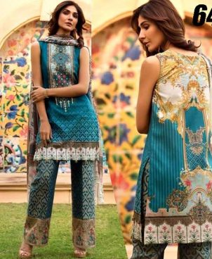 Printed Lawn Suit With Printed Cambric Trouser DM FIR 641.jpg