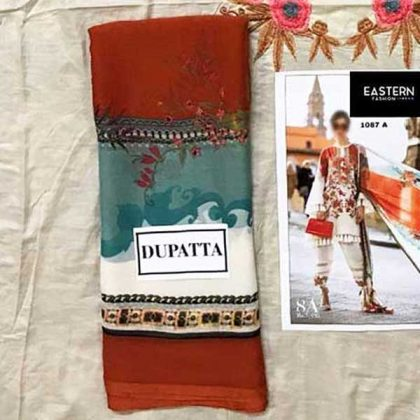 Printed Lawn Suit With Printed Chiffon Dupatta Cambric Trouser DM SS 650 A 2.jpg