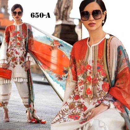 Printed Lawn Suit With Printed Chiffon Dupatta Cambric Trouser DM SS 650 A.jpg