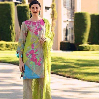 Printed Lawn Suit With Printed Chiffon Dupatta DM CHAR 595 2.jpg