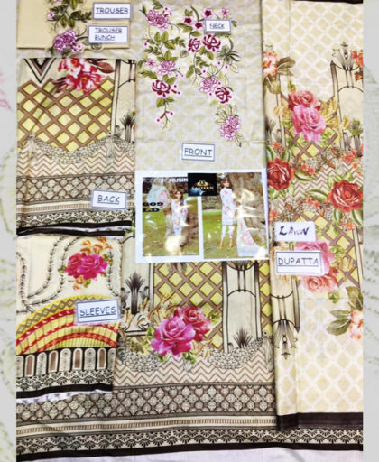 Printed Lawn Suit With Trouser Bunches Embroidery DM BT 609 3.jpg