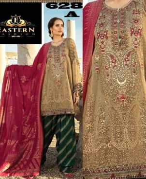 Printed Lawn With Chiffon Dupatta Printed Sleeves Trouser DM MB 628 A.jpg