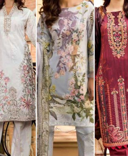 Special Deal Of 3 Embroidery Lawn Suits 2019 Designs 646LD 654 658.jpg