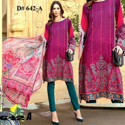 Special Summer Deal Of 4 Embroidery Lawn Suits 2019 Design 642A.jpg