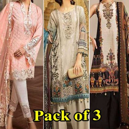 Special Summer Offer Pack Of 3 Embroidery Lawn Suits 2019 Designs 624 632B 662A.jpg