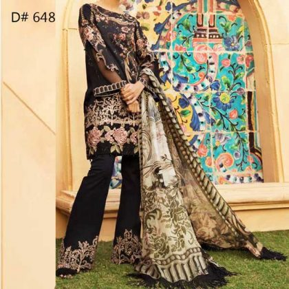 Super Deal Pack Of 3 Embroidery Lawn Suits 2019 Design 648.jpg