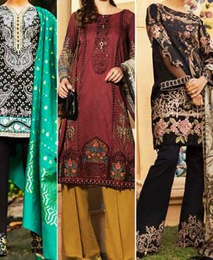 Super Deal Pack Of 3 Embroidery Lawn Suits 2019 Designs 659 632 648.jpg