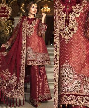 Velvet Touch Maysori Shirt With Net Dupatta Jamawar Trouser DM MB 626.jpg