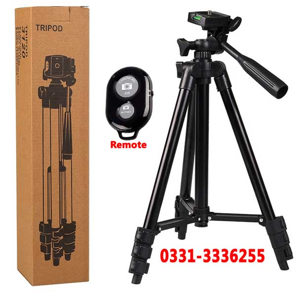 4 Step Folding Tripod For DSLR Camera With Mobile Holder And Remote Control 1