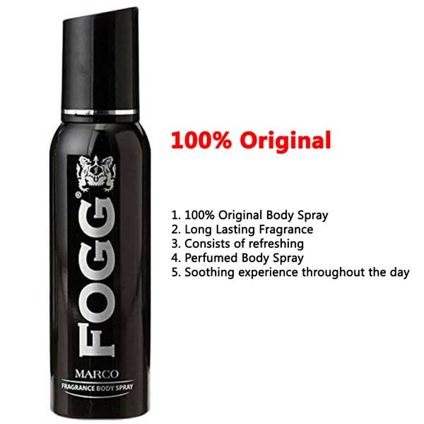 Fogg Marco Long Lasting Body Spray For Men 120 ML 100% ORIGINAL