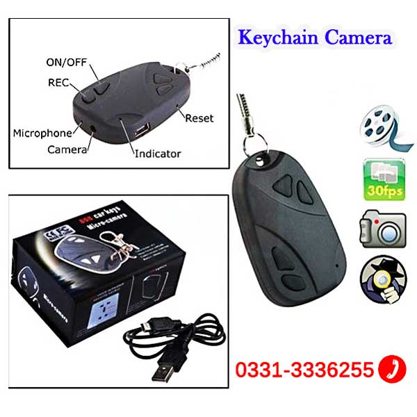 Keychain Camera With Audio Video Recorder And Take Pictures