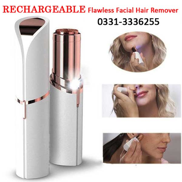 RECHARGEABLE Flawless Women Painless Hair Remover Face Facial Hair Remover 1