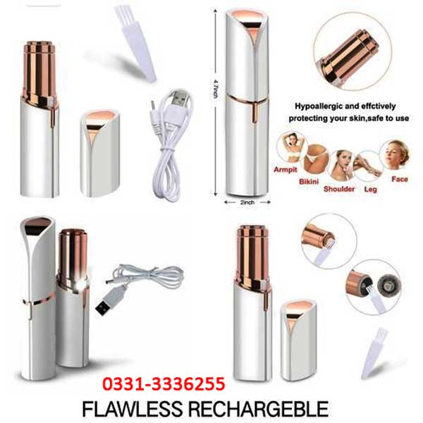 RECHARGEABLE Flawless Women Painless Hair Remover Face Facial Hair Remover 2
