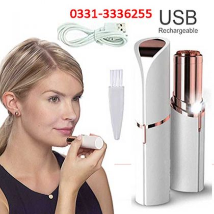 RECHARGEABLE Flawless Women Painless Hair Remover Face Facial Hair Remover